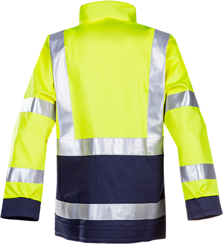 Sioen Millau Signalisatie Blouson met ARC bescherming-056-Fluo Geel/Marine