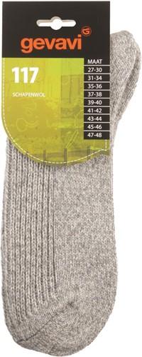 Gevavi 117 Schapenwollensok  - licht grijs-27-30