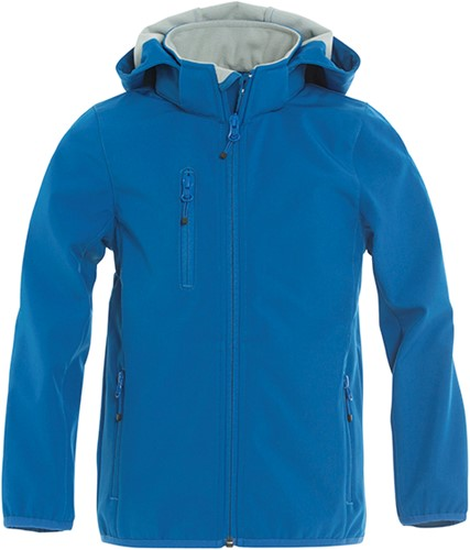 Clique Basic Softshell jacket junior-Kobalt-110/120