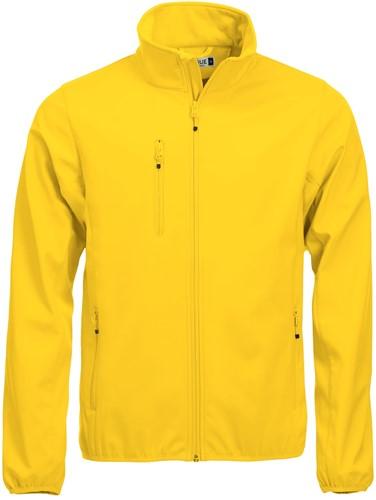 Clique Basic Softshell jacket heren-XS-Lemon