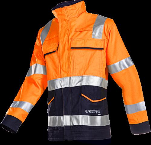 Sioen Larrau Signalisatie Blouson met ARC bescherming-044-Fluo Oranje/Marine
