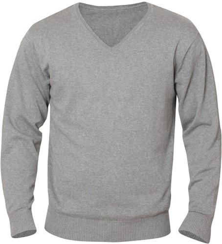 Clique Aston heren V-neck sweater-S-Grijsmelange