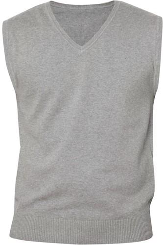 Clique Adrian heren V-neck pullover-XS-Grijsmelange