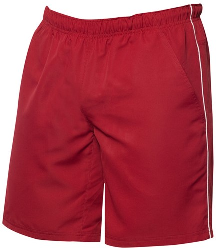 Clique Hollis sport shorts-XS-Rood/wit