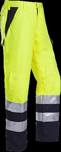 Sioen Matour Signalisatie Broek met ARC bescherming-R50-Fluo Geel/Marine