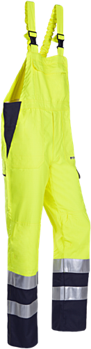 Sioen Ambier Signalisatie Bavetbroek met ARC bescherming-R60-Fluo Geel/Marine