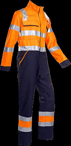 Sioen Guardo Signalisatie Overall met ARC bescherming-I46-Fluo Oranje/Marine