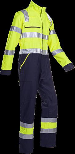 Sioen Fareins Signalisatie overall met ARC bescherming-R60-Fluo Geel/Marine