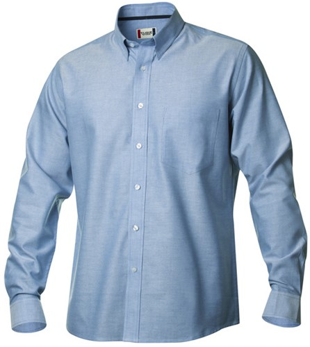 Clique New Oxford Shirts-S-Kobalt