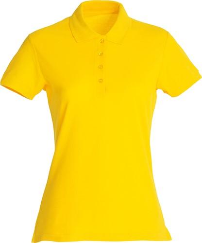 Clique Basic dames polo-XS-Lemon