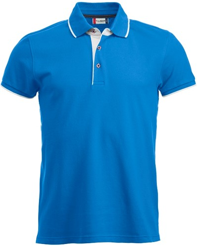 Clique Seattle heren polo-S-Helblauw