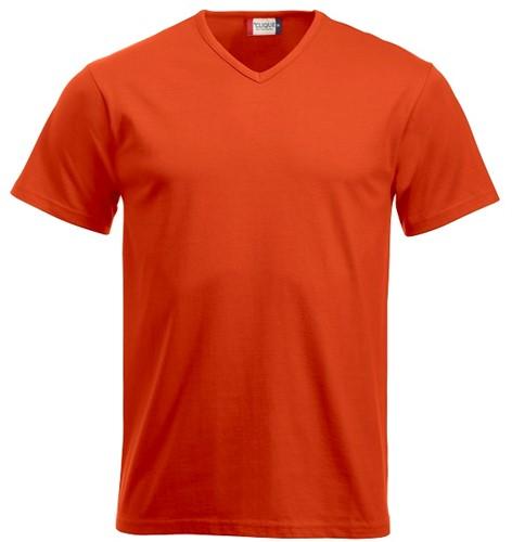 Clique Fashion-T V-neck T-shirt-XS-Dieporanje