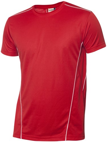 Clique Ice Sport-T polyester-XS-Rood/wit