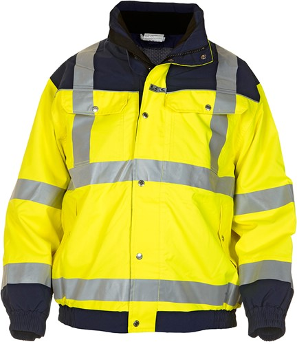 Hydrowear Furth Hi-Vis Jacket-Geel/Navy-XXL