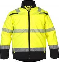 Hydrowear Telford Hi-Vis Softshell Jack-Geel/Zwart-S