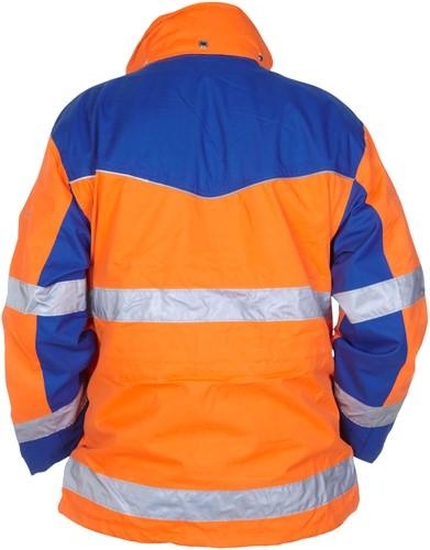 Hydrowear Fulda Parka - Oranje/Royal Blauw