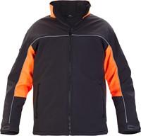 Hydrowear Rio Softshell Jack-Zwart/Oranje-XS