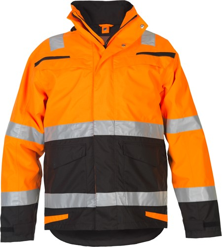 Hydrowear March Winterparka - Oranje/Zwart-S-1