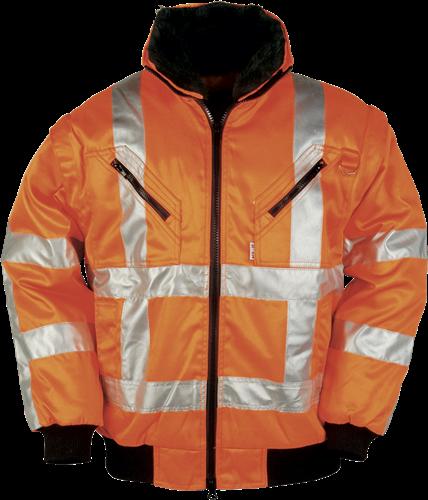 Sioen Eagle Signalisatie Winterblouson met uitritsbare mouwen (RWS)-S-Fluo Oranje