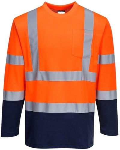 Portwest S280 Hi-Vis Two-Tone T-Shirt L/S