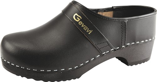 Gevavi - 900 Schoenklomp gesloten hiel -  zwart-24-1