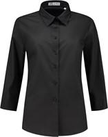 Dames blouse Julie 3/4 mouw - Zwart