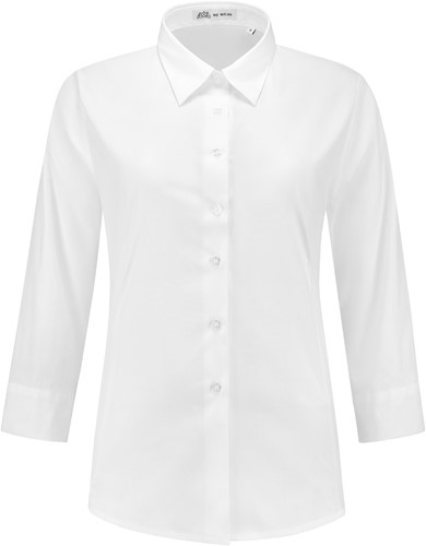 Dames blouse Julie 3/4 mouw - Wit