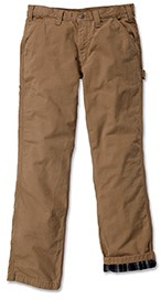 Carhartt Washed Twill Dungaree Flannel Lined werkbroek-1