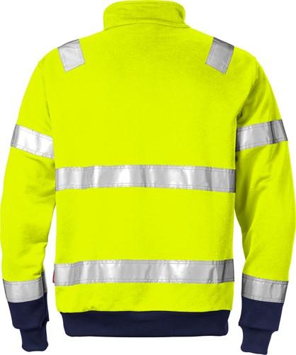Fristads High vis sweatshirt met korte rits klasse 3 728 BPV-2