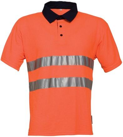 Havep High Visibility Polo-S-Fluo oranje/marineblauw