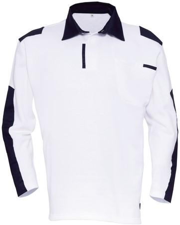 Havep Painter Polo sweater-S-Wit/marineblauw