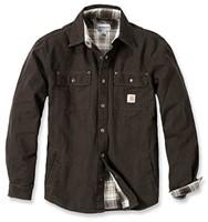 Carhartt WeatheRood Canvas Shirt jack-S-Donker Bruin-1