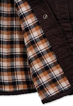 Carhartt WeatheRood Canvas Shirt jack-S-Donker Bruin-2