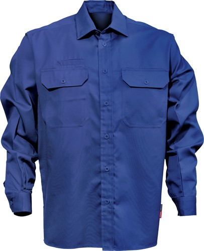 Fristads Katoenen overhemd 7386 BKS-S-Koningsblauw
