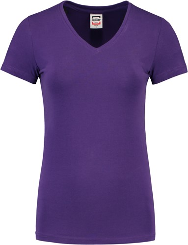 Tricorp TVT190 T-Shirt V Hals Slim Fit Dames-XS-Paars