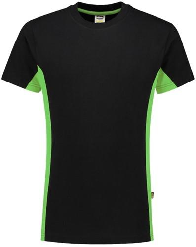 Tricorp 102004 T-Shirt Bicolor -XS-Zwart/Lime