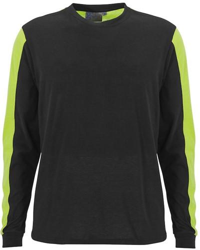SALE! Graphix 161590 Messina T-shirt lange mouw - Zwart/Geel - Maat M