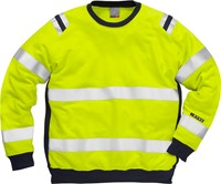 Fristads Flamestat high vis sweatshirt klasse 3 7076 SFLH-1
