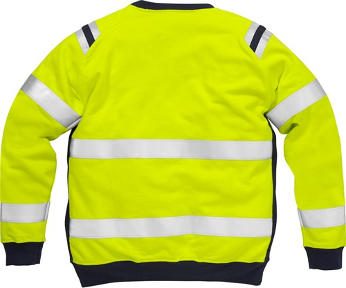 Fristads Flamestat high vis sweatshirt klasse 3 7076 SFLH