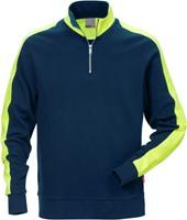 Fristads Sweatshirt met korte rits 7449 RTS-1