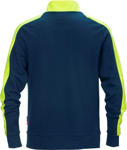 Fristads Sweatshirt met korte rits 7449 RTS-2