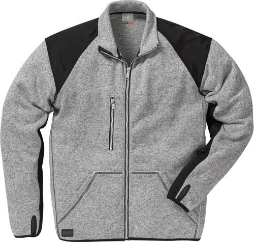 Fristads Fleece sweatjack 7451 PRKN-Grijs/Zwart-XS-1