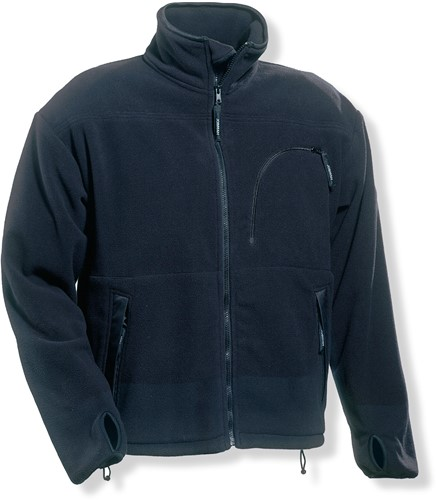 Jobman 1207 Fleece jack zwart