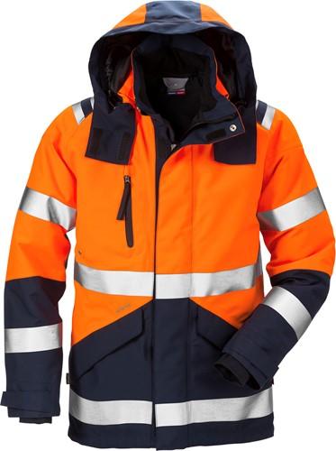 Fristads High vis GORE-TEX® shelljack klasse 3 4988 GXB-XS-Hi-Vis oranje/marineblauw-1