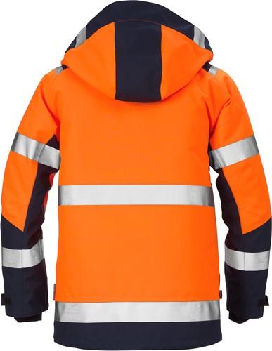Fristads High vis GORE-TEX® shelljack klasse 3 4988 GXB-XS-Hi-Vis oranje/marineblauw-2