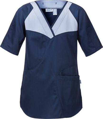Hejco Helen Dames oversteektuniek-34-Donkerblauw/wit