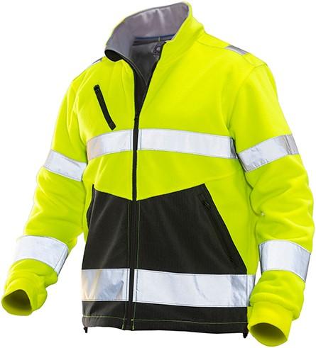Jobman 1241 Fleece Jack HV geel/zwart
