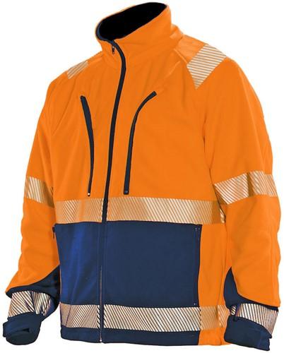 Jobman 1243 Fleece Jack HV KL.3 Orange/Navy