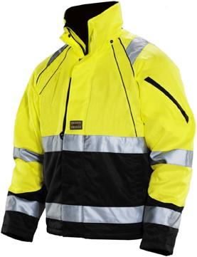 Jobman 1253 Winter jack HV geel/zwart