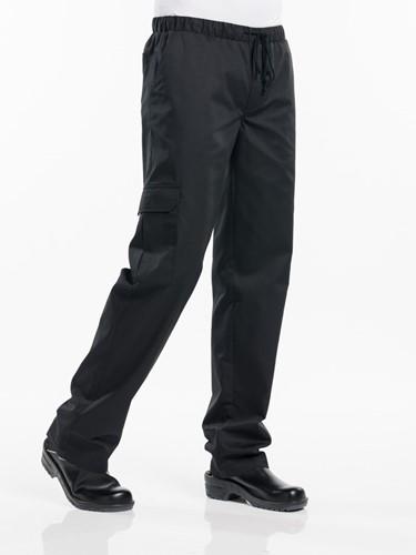 Chaud Devant Baggy Black Kokspantalon-1